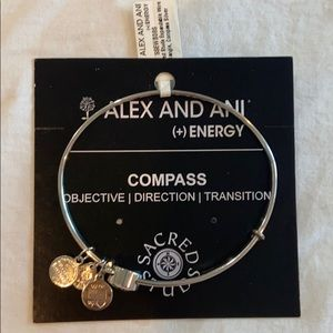 NWT Alex and Ani Compass Expandable Wire Bangle